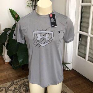 Under Armour Grey Heatgear T-Shirt Large